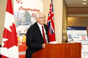 Gary van Bolderen addressing COCA's Construction Season Reception @ Queens Park May 15, 2017