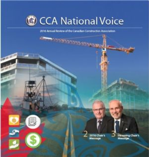 2016 Annual Review of the CCA (Canadian Construction Association)