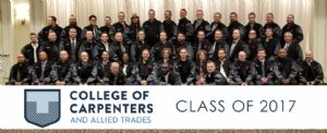 The Class of 2017 – College of Carpenters and Allied Trades