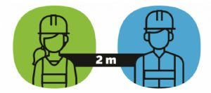 Physical Distancing Posters for Construction work sites